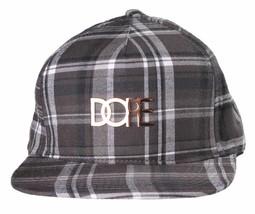 Dope Couture con Parche Cuadros Negro/Blanco Strapback Tapa Moda Sombrero Talla
