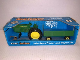 Ertl Farm Country 1/32 Scale John Deere Tractor and Wagon Set 1991 - $30.00