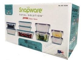 SNAPWARE PYREX 18PC GLASS - $45.53