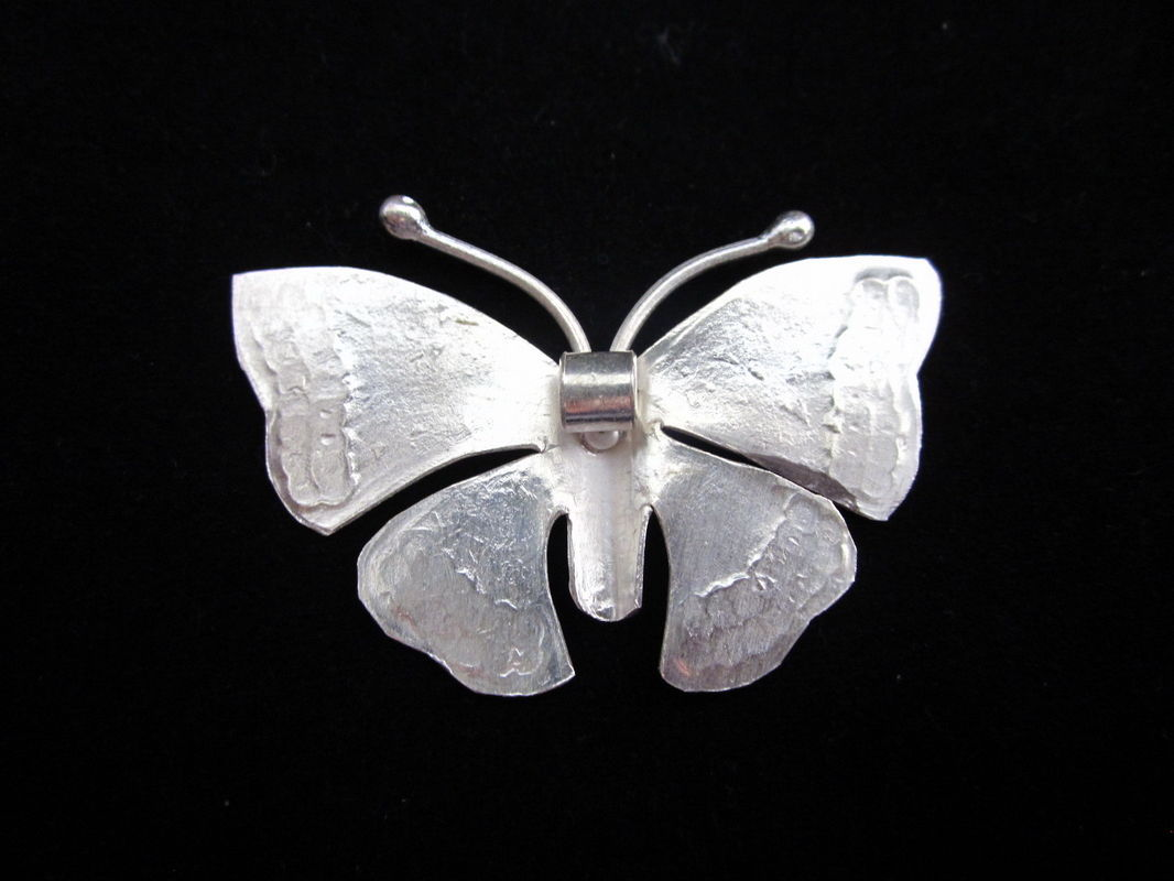Pure Silver Pendants Tribal Butterfly Hill Tribe Ethnic Asian Craft P29