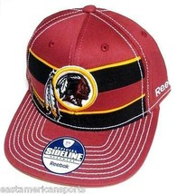 Washington Redskins NFL Reebok Sideline Flat Visor Red Black Hat Cap Fit... - €16,97 EUR