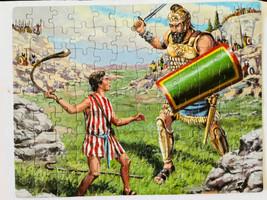 """""""DAVID AND GOLIATH"""" - Bible Puzzle - 100 Piece Puzzle -Vintage 1987 K - $9.47"""