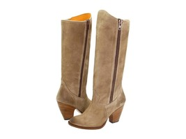 New in Box - $598 FRYE Angela Side Zip Tan Suede Leather Boots Size 6 - $143.54