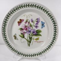 PORTMEIRION Botanic Garden Dinner Plate Sweet Pea Lathyrus Odoratus Flower - $43.55
