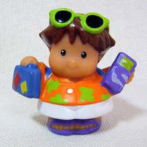 Fisher Price Little People ROBERTO Hawaiian Vacation Lil Movers Airplane - $4.50