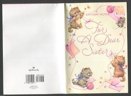 1 Vintage Greeting Card Happy Birthday Sister Adult trademark Hallmark 6... - $2.00