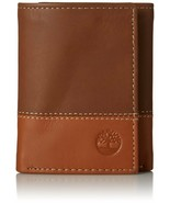 TIMBERLAND HUNTER BROWN TAN GENUINE LEATHER CREDIT CARD TRIFOLD MEN WALLET - $19.99