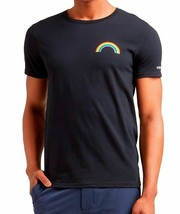 Kenneth Cole Mens Rainbow Graphic Print T-Shirt, Black, XL - $14.84