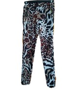 Women's Leopard Print Fleece Lined Jeggings Pockets One Size 27 Inseam 2... - $19.79