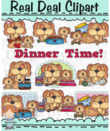 Piper and Polly Dinner Time Clip Art - $1.35