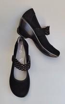 Jambu Shoes Mary Janes Wedge Slip On Lace Strap Black Wonder Womens Size 9 M - $69.26