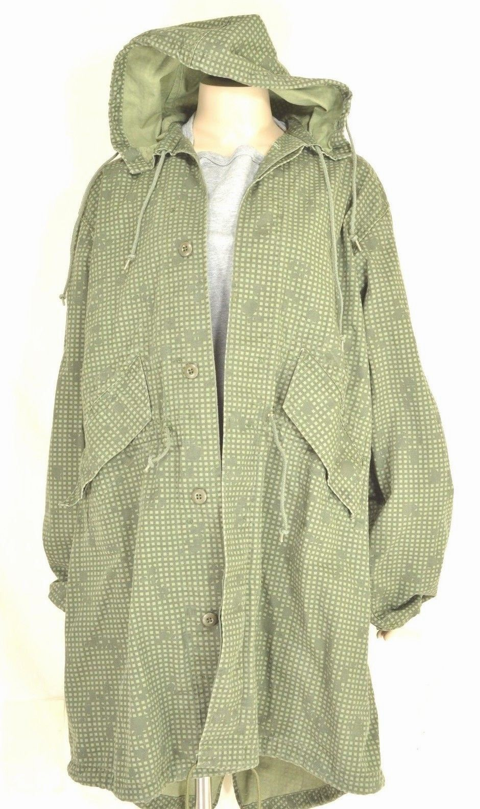 Vtg US Army Fishtail Parka Field Jacket M Desert Night Camo Gulf War Era M51