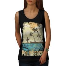 Palm Beach Holiday Tee Florida USA Women Tank Top - $12.99