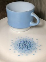 Vintage Fire King Blue Mosiac Set Cup & Plate Anchor Hocking - $14.25