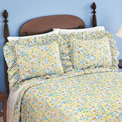 Daisy Plisse Ruffle 2 Piece Pillow Sham Set