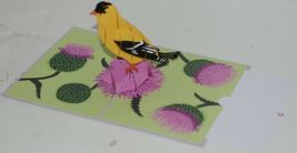 Lovepop LP1960 Goldfinch Pop Up Card Purple Slide Out Note Cellophane Wrapped image 4