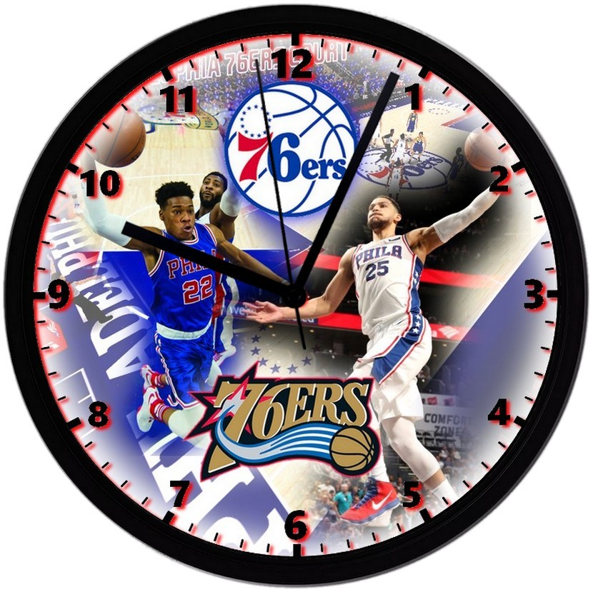 "Philadelphia 76ers Homemade 8"" NBA Wall Clock w/ Battery Included - $23.97"