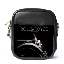 Sling Bag Leather Shoulder Bag Rolls Royce Logo British Luxury Car And A... - $14.00