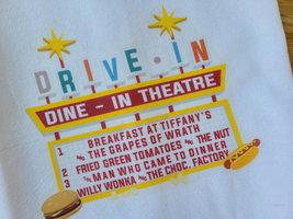 """Vintage Inspired Drive-In Movie Tea Towel 15"""" x 25"""", Movie Night, Vintage Movie  image 2"""