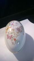 1974 Avon Porcelain Egg Box Butterfly Fantasy 22K Gold Trim Colorful Flowers - $10.25