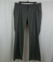 Old Navy Wool Blend Gray Pleated Front Dress Pants Fully Lined Women's S... - $18.66