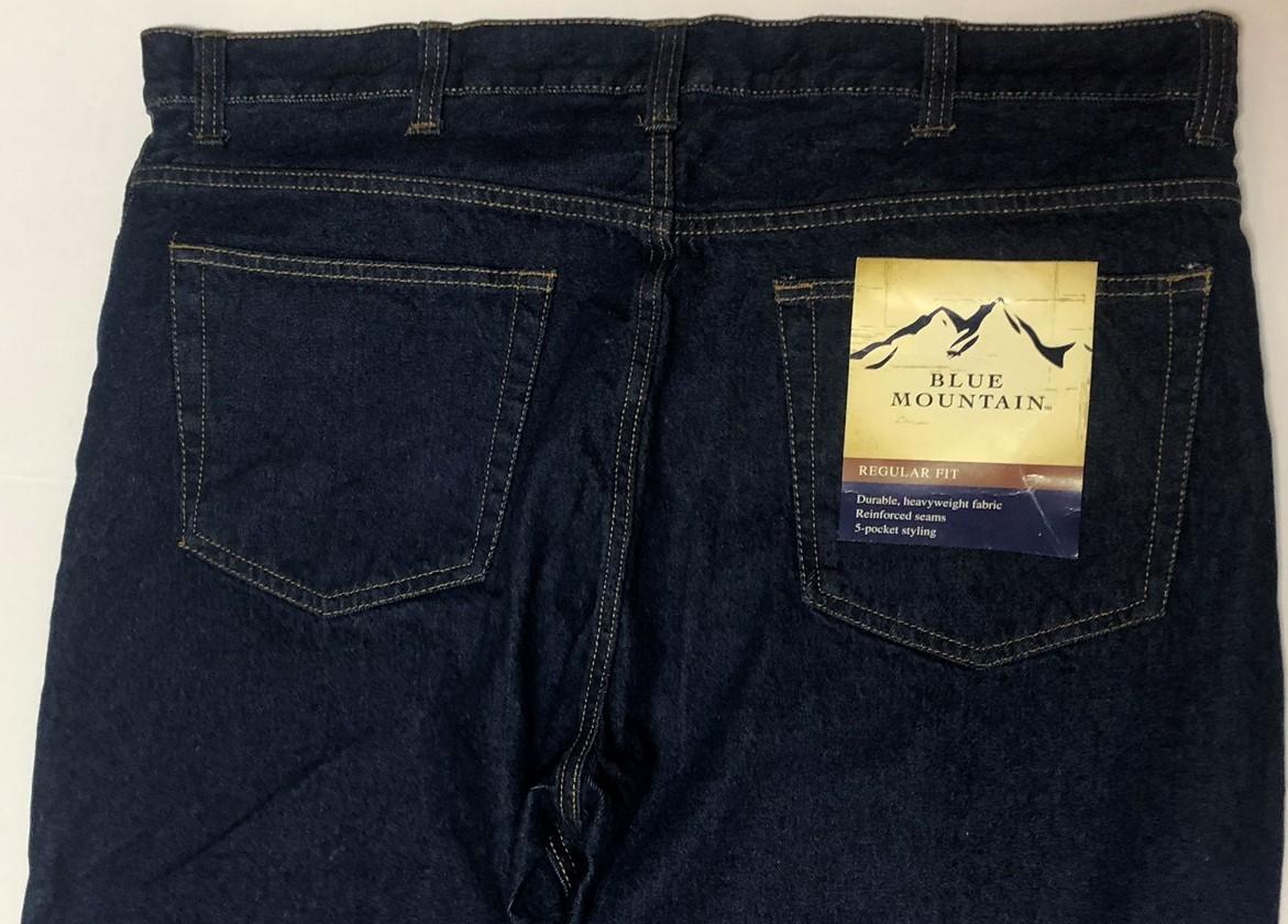 Blue Mountain Jeans Regular Fit 5 Pocket Heavyweight Sz 40 x 34 image 6