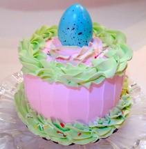 """Easter Cake 6"""" Faux Cake- Pink w/ Green Fake Cake  Prop Decoration - $23.75"""