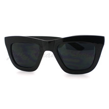 Womens Fashion Sunglasses Thick Horn Rimmed Square Frame BLACK - $9.85