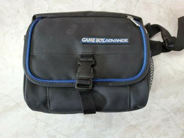Nintendo GameBoy Advance Carrying Case Bag W/ Travel Strap Black and Blue - $29.95