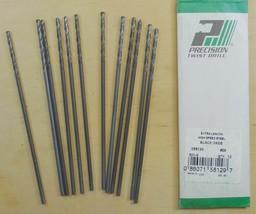 "Precision Twist Drill  Black  Oxide  Bit .1360 = 9/64 Dia. 6 "" Length  1... - $19.99"