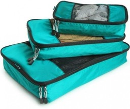 TravelWise Packing Cubes - 3 Piece Set (Teal) - $726,81 MXN