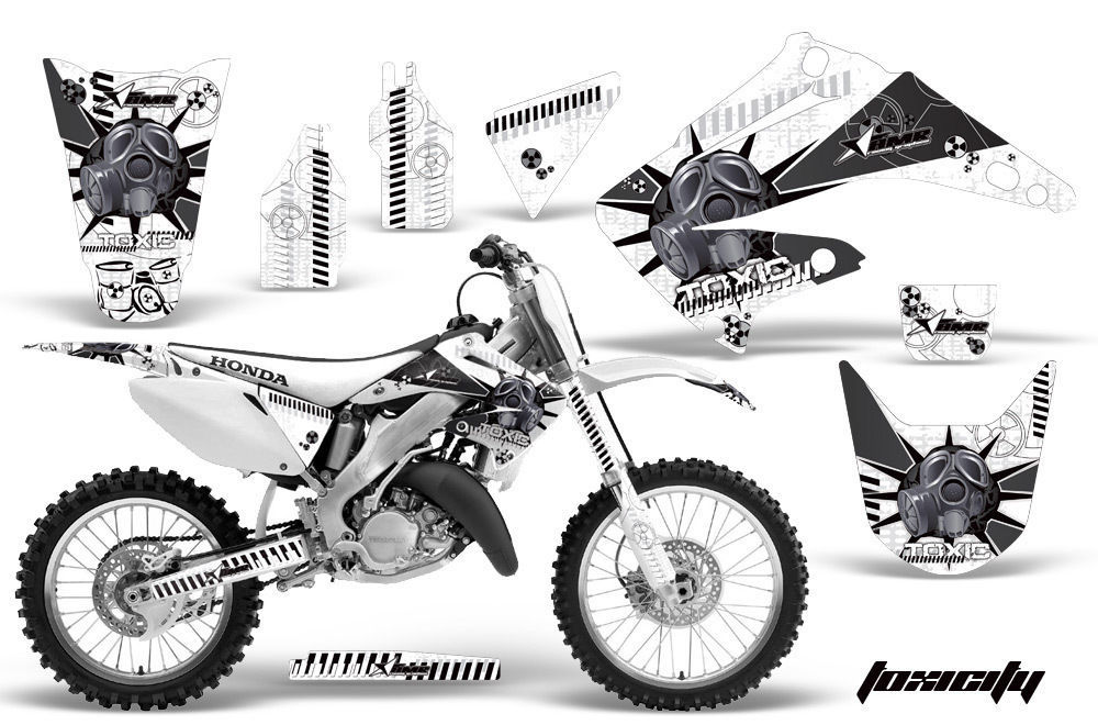 dirt bike graphics kit decal wrap for honda cr125r cr250r 2002-2008 toxicity k w