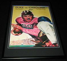 1946 North Carolina vs Duke Football Framed 10x14 Poster Official Repro - $46.39