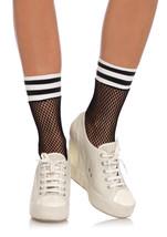 Leg Avenue 3045 Black Ankle Fishnet Athletic Socks Hosiery Stockings O/S - $144,13 MXN