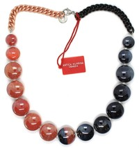 Necklace Antique Murrina, CO833A25, Chain Groumette, Discs, Red Black image 1