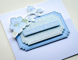 "Memory Box Paper Pad 6""X6"" 24/Pkg-Springtime Bouquet Stripes - $8.64"