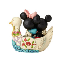 "5.38"" ""Lovebirds"" Mickey & Minnie in Swan - Jim Shore Disney Traditions image 2"
