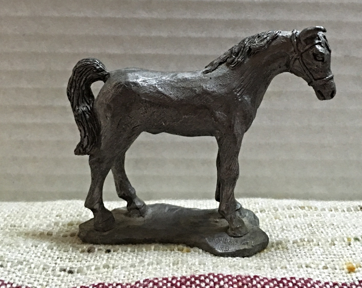 Vintage Pewter Horse Figurine // Metal Horse and 11 similar