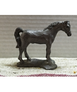Vintage Pewter Horse Figurine // Metal Horse Collectible // Miniature Ho... - $12.75