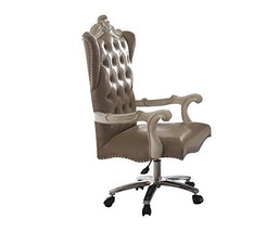 Acme Versailles Vintage Gray Faux Leather Chair With Swivel And Lift - $700.19