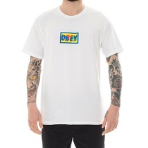 MAN T-SHIRT OBEY TRANSPARENT OBEY PREMIUM TEE 165361904.WHT SHORT SLEEVE... - $50.24