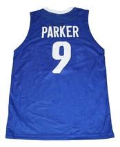 Tony Parker #9 Team France New Men Basketball Jersey Blue Any Size image 2