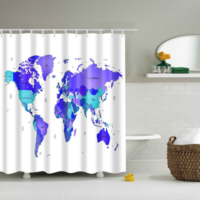 2017 New Design Colorful Eco-friendly World Map Polyester  High Quality Washable image 4