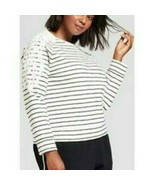 A New Day Plus Size Womens Striped Lace  Pull Over  Size X or 2X NWT - $14.39
