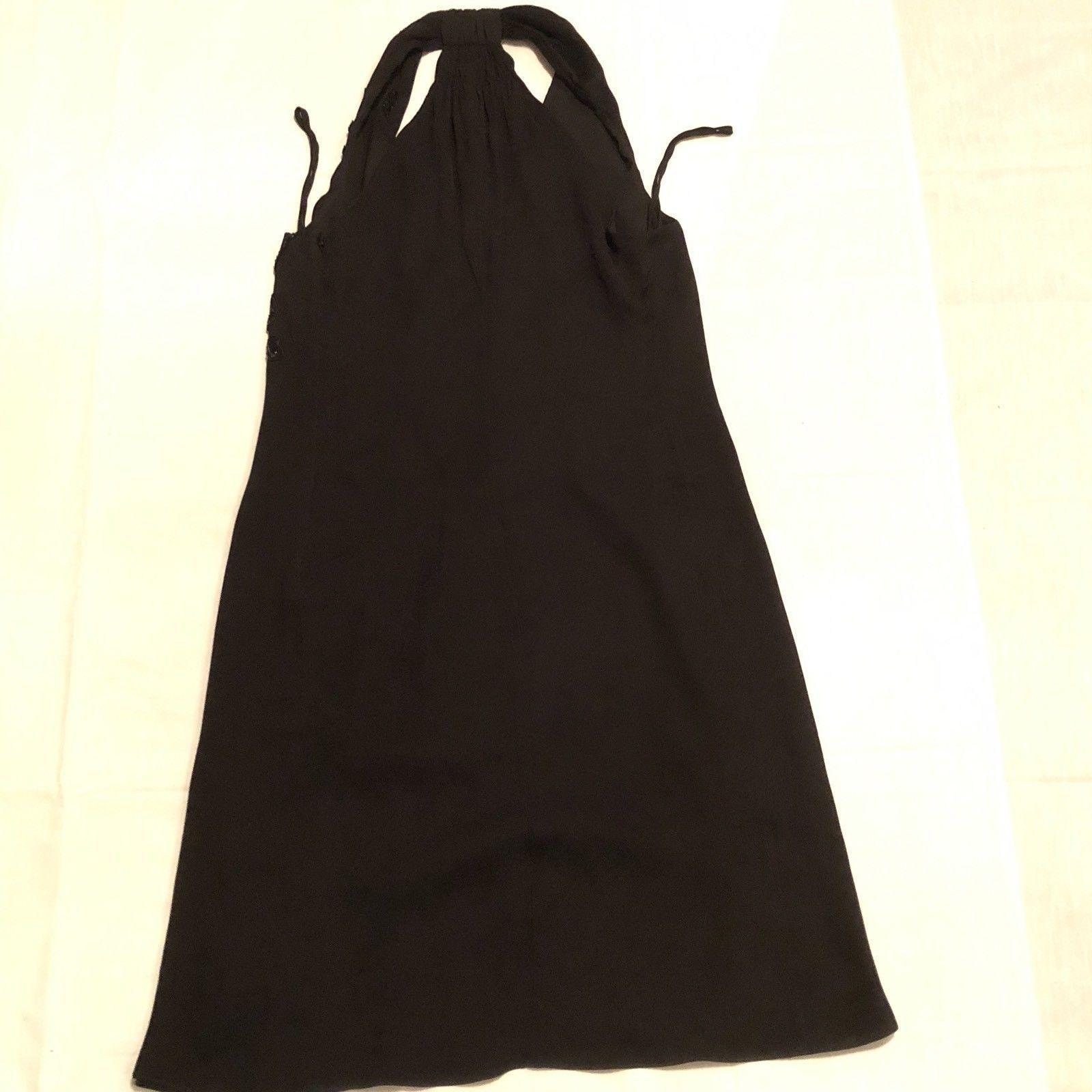 Armani Collezioni Black Halter Lined Dress Size 10 EU 46 Prom Evening image 8