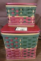 Longaberger 2006 Holiday Hearth & 2006 Holiday Home Basket Combo Set Protectors - $89.95