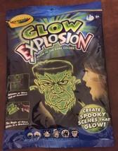 3) NEW HALLOWEEN CRAYOLA GLOW IN DARK SPOOKY COLOR EXPLOSION COLOR SCENE... - $3.00