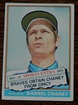 Darrel Chaney, Braves,  1976  #259T Topps Baseball Card, GOOD CONDITION - $0.99