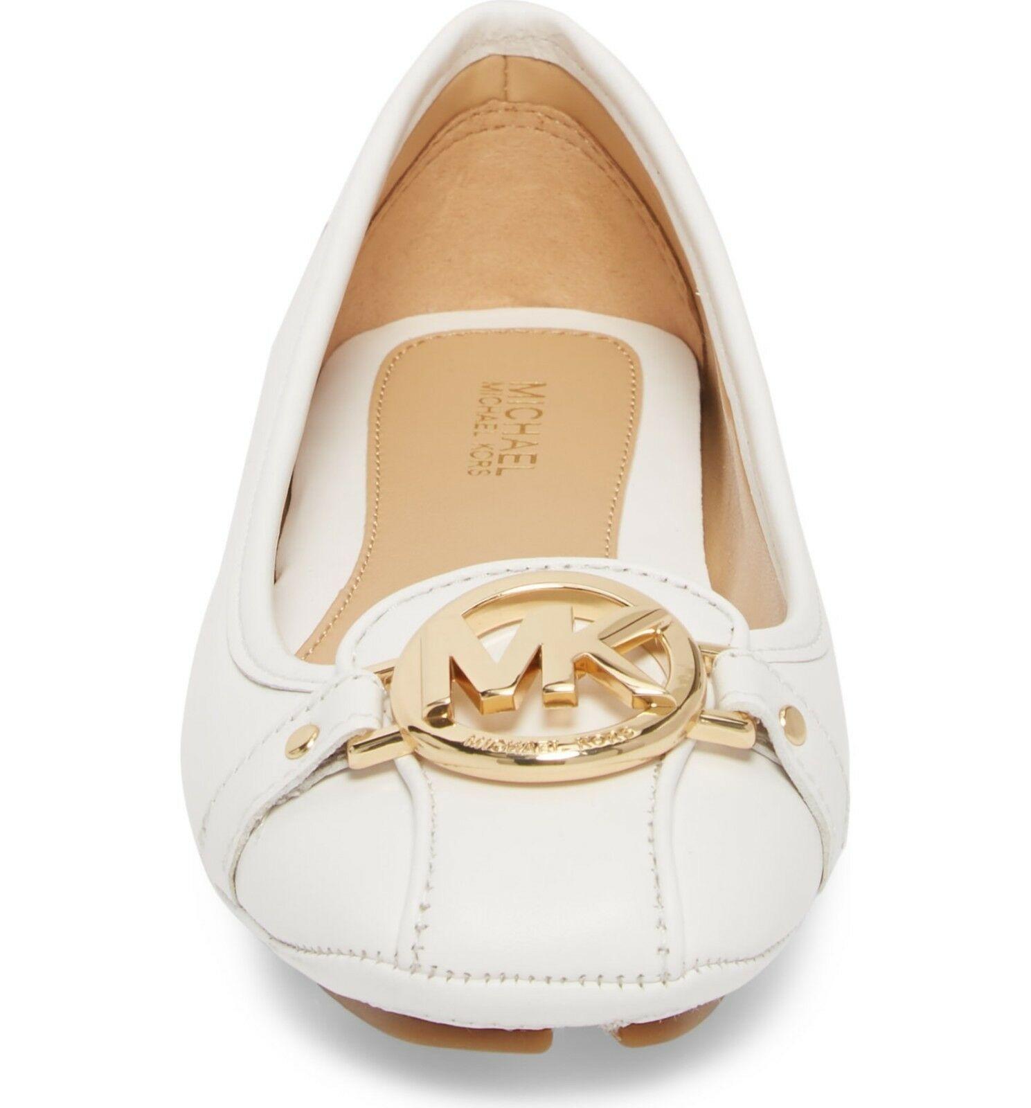 6cb3d7dd192bc Michael Kors MK Women's Premium Designer Fulton Moccasin Flats Optic White