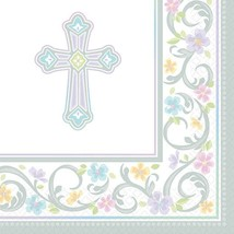 Amscan Communion White Beverage Napkins, 36 Ct. | Party Tableware - $24.38